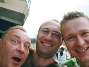 air concert 2004 in vienna: me, werner and bernhard