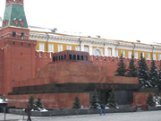 Lenin's mausoleum - he was away ahving a wash and brush up
